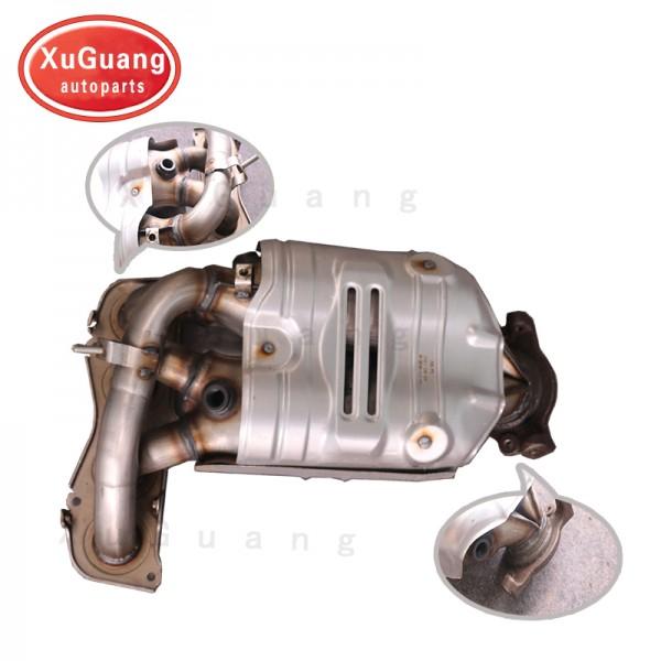 XG-AUTOPARTS Twin Cat Manifold Catalytic Converter...