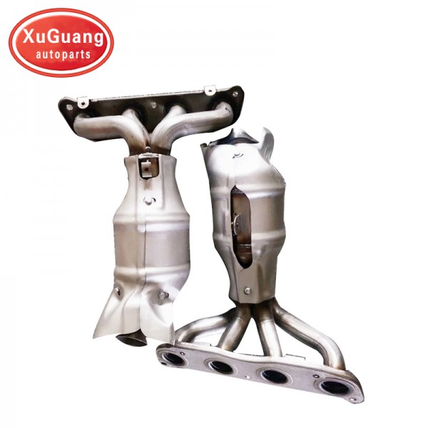 XG-AUTOPARTS direct fit exhaust manifold catalytic converter for nissan Qashqai 2.0L 2008- 2013 high quality